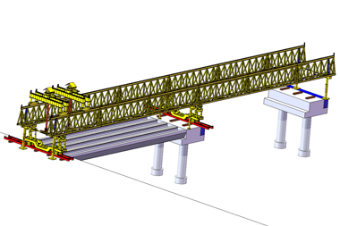 Span by Span 120 Ton 40M Precast U Girder Erection Beam Launcher for Highway Construction